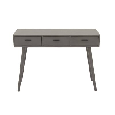Wood Console Table Color: Matte Gray