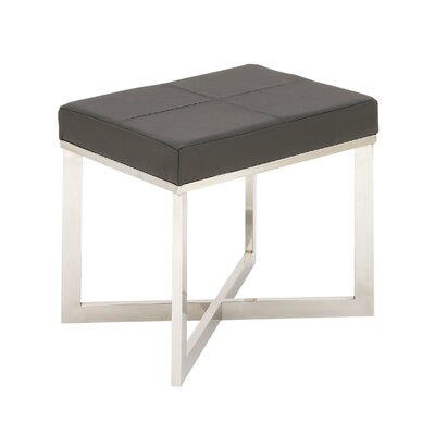 Stainless Steel Leather Vanity Stool