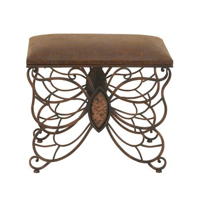 Metal and Leather Stool