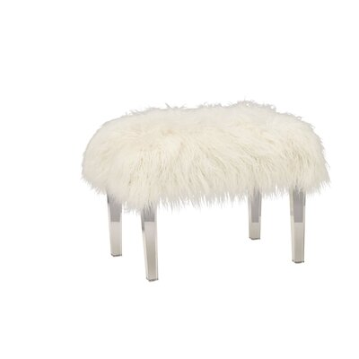 Acrylic Faux Hair Stool
