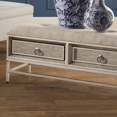 Metal and Wood Storage Bench