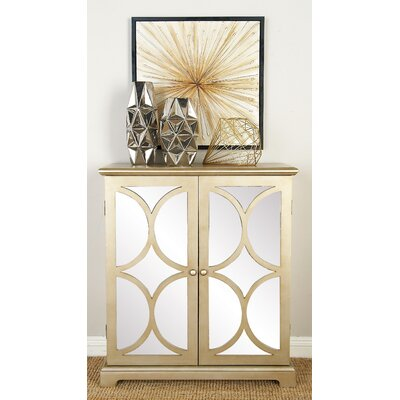 2 Door Accent Cabinet Color: Tan