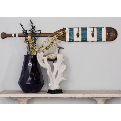 Wood Metal Oar Wall Hook