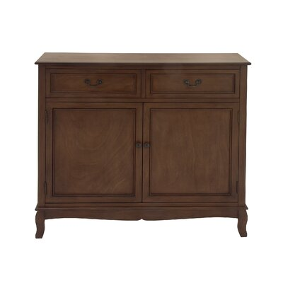 Hargrave Wood 2 Drawer 2 Door Accent Cabinet Color: Brown