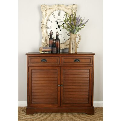 2 Door 2 Drawer Wood Accent Cabinet Color: Brown