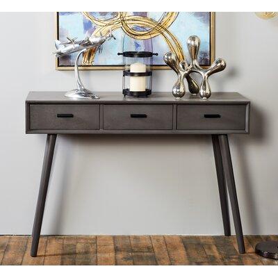 Wood Console Table Color: Mattele Black