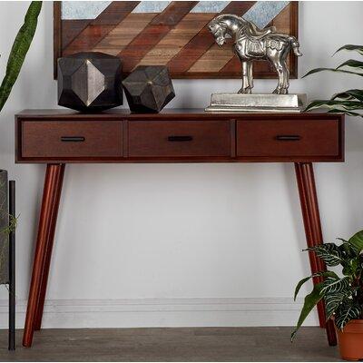 Wood Console Table Color: Mattele Brown