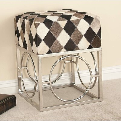 Cole & Grey Patch Accent stool