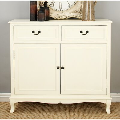 Hargrave Wood 2 Drawer 2 Door Accent Cabinet Color: White