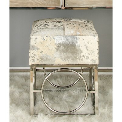 Cole & Grey Hide Stool COGR8500