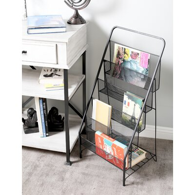 Industrial 5-Tiered Magazine Rack