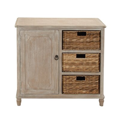 Basket 3 Drawer Accent Chest Color: Natural