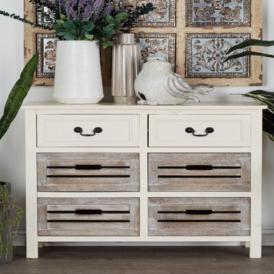 6 Drawer Accent Chest Color: Gray