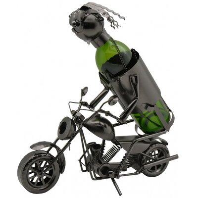 Motorcycle Rider 1 Bottle Tabletop Wine Rack