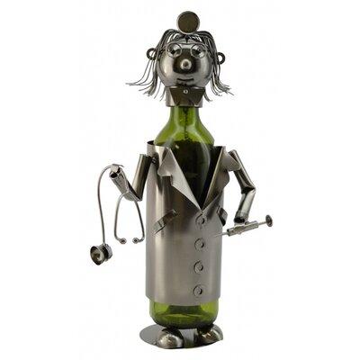 Lady Doctor 1 Bottle Tabletop Wine Rack