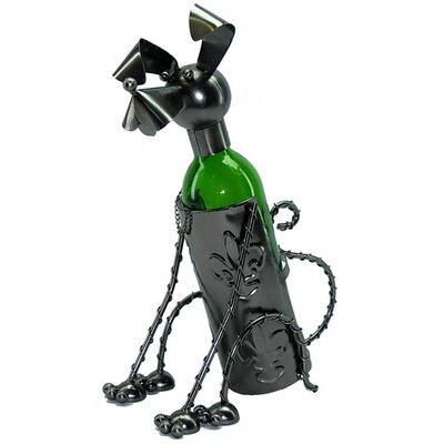 Sitting Dog 1 Bottle Tabletop Wine Rack
