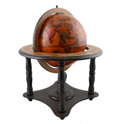 Old World Globe on Wood Base