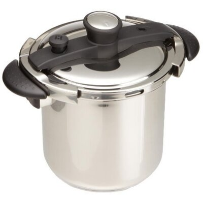 8-Quart Stainless Steel Pressure Cooker with Tri-Ply Bottom