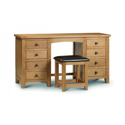 All Home Wiltshire 8 Drawer Twin Pedestal Dressing Table