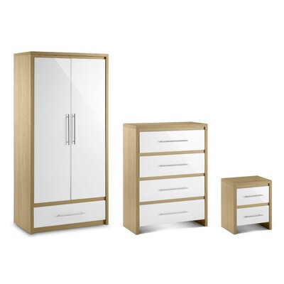 All Home Copenhagen 3 Piece Bedroom Set