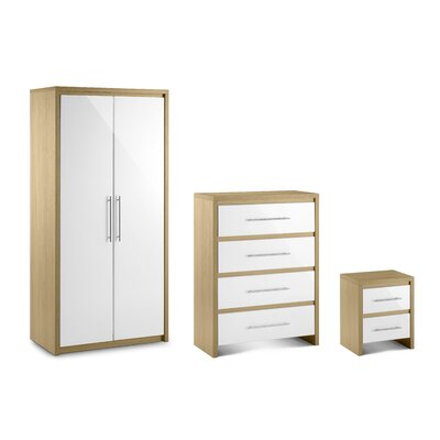 All Home Copenhagen 3 Piece Bedroom Set