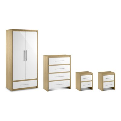 All Home Copenhagen 4 Piece Bedroom Set