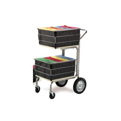 Compact File Cart with 2 Baskets