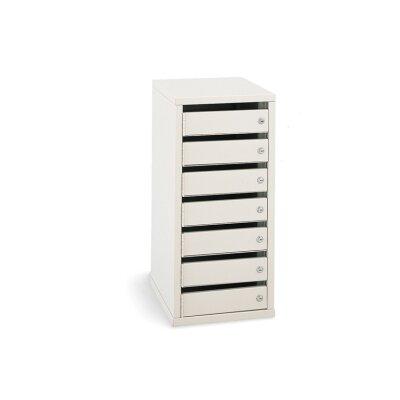 7 Door Front Load 4C Horizontal Mail Center Lock Type: Thumb Tum