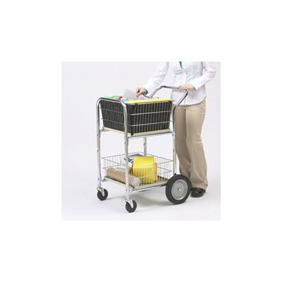 Compact Dual Handle Wire Basket File Cart
