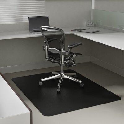 """EconoMat Low Pile Carpet Straight Edge Chair Mat Size: 0.25"""" H x 36"""" W x 48"""" D"""