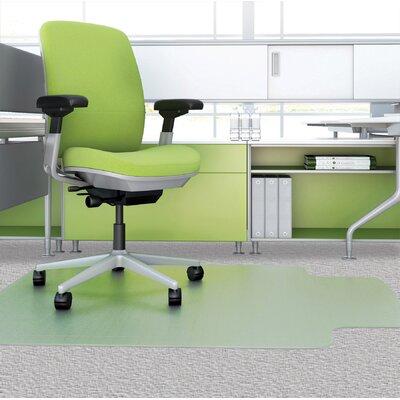 "EnvironMat Low Pile Straight Edge Chair Mat Size: 0.63"" H x 36"" W x 48"" D"
