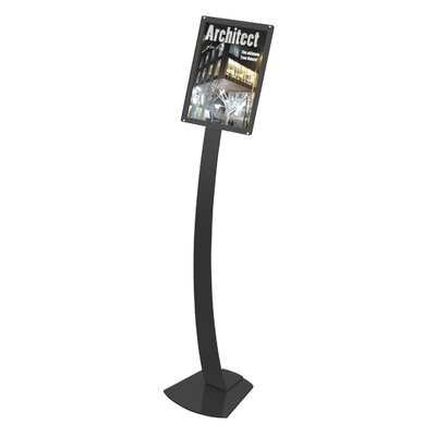 Oversize Contemporary Floor Sign Stand Color: Black