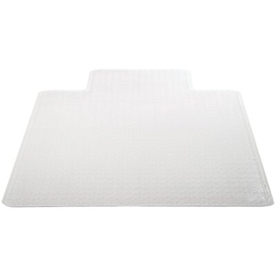 "Medium Pile Carpet Beveled Edge Chair Mat Size: 45"" W x 53"" D"
