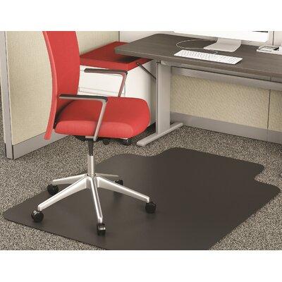 """EconoMat Low Pile Straight Edge Chair Mat Size: 0.095"""" H x 36"""" W x 48"""" D"""