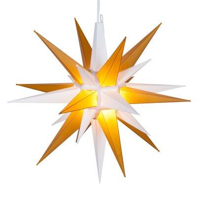 LED Moravian Star Color: White/Gold