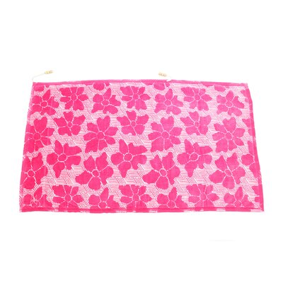 Embrace Casmus 100% Cotton Beach Towel Color: Pink