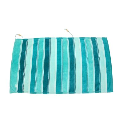 Embrace Ombre Crescent 100% Cotton Beach Towel Color: Blue