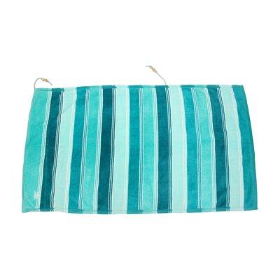 Embrace Ombre Crescent 100% Cotton Beach Towel Color: Blue