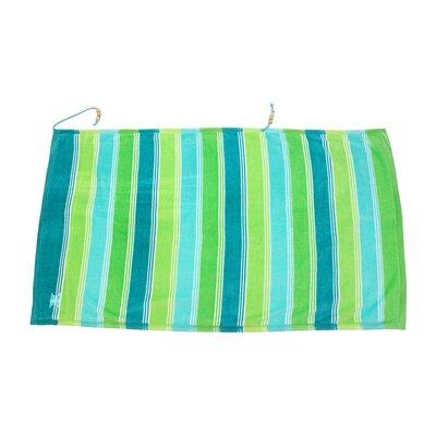Embrace Ombre Crescent 100% Cotton Beach Towel Color: Green