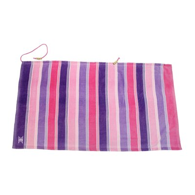 Embrace Ombre Crescent 100% Cotton Beach Towel Color: Pink