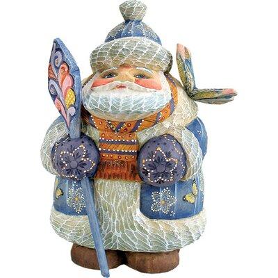 G Debrekht Derevo Butterfly Wishes Santa Figurine