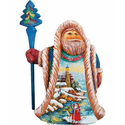 Fifield Illustrated Santa's Lookout Figurine
