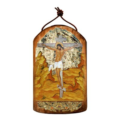 Inspirational Icon Crucifixion Wooden Ornament