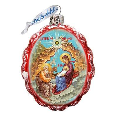 Orthodox Nativity Keepsake Glass Ornament