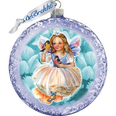 Holiday Splendor Fairy Scenic Glass Ornament
