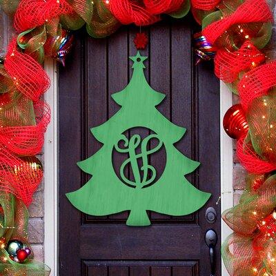 Christmas Tree 3-Letter Wooden Monogram Sign