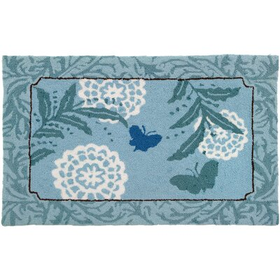 Homefires Blue Butterfly Area Rug