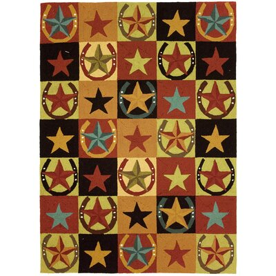 Homefires Western Stars and Horseshoes Area Rug