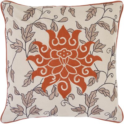 Surya Sun and Leaves Cotton Throw Pillow