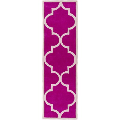 Mamba Hot Pink Light Gray Geometric Rug Wayfair